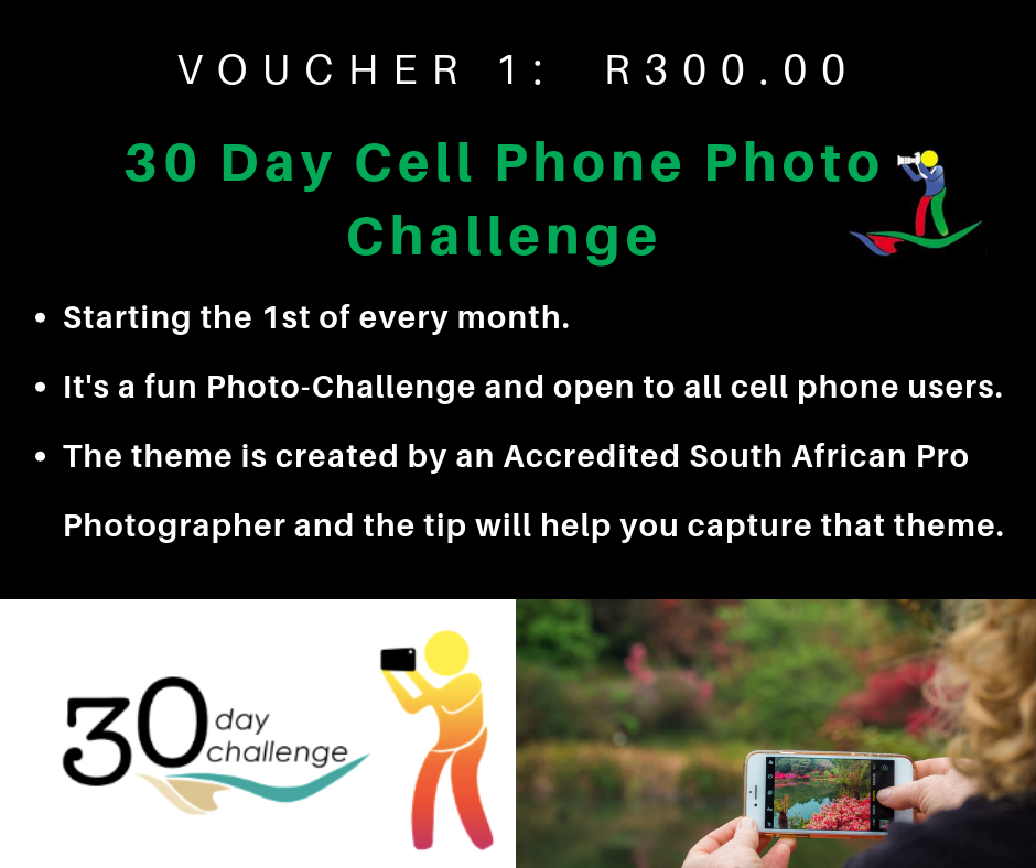 VOUCHER 1 - 30 DAY CELL PHONE PHOTO CHALLENGE