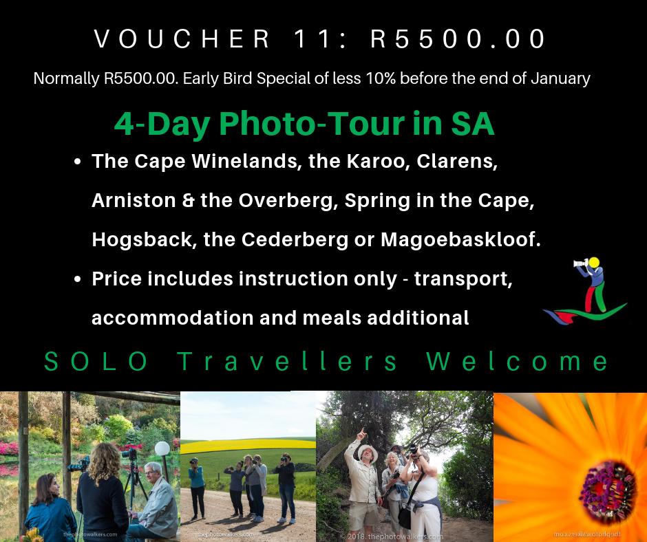 VOUCHER 11 - FOUR(4) DAY PHOTO-TOUR IN SA