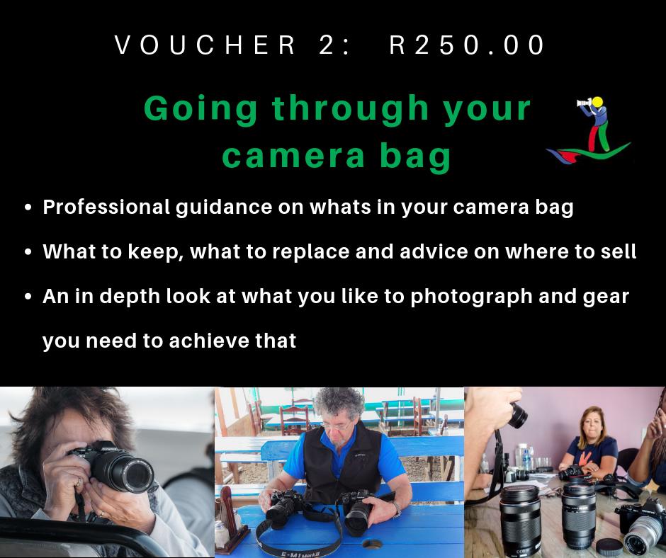 VOUCHER 2 - GOING THROUGH YOUR CAMERA BAG