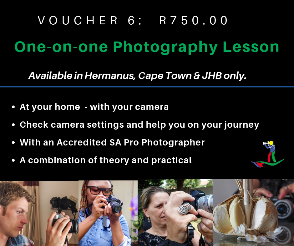 VOUCHER 6 - ONE-ON-ONE PHOTOGRAPHY LESSON