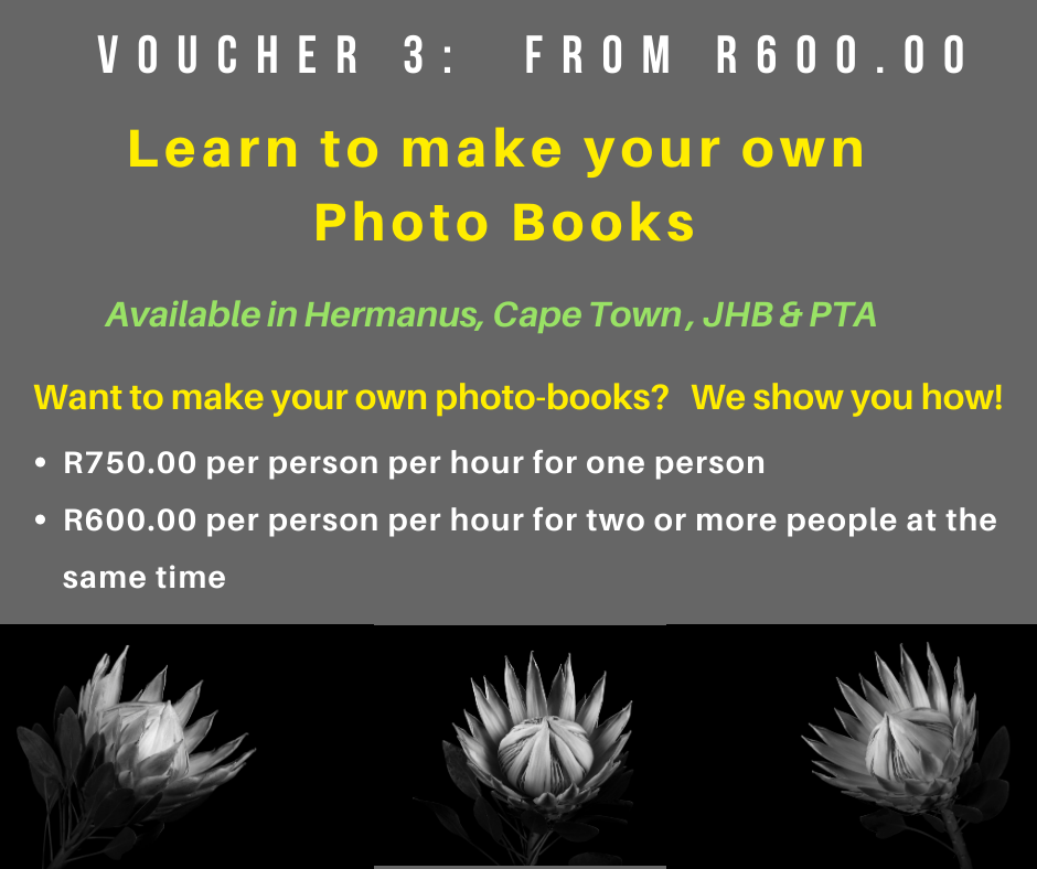 VOUCHER 3 - HOW TO MAKE YOUR OWN PHOTO BOOKS