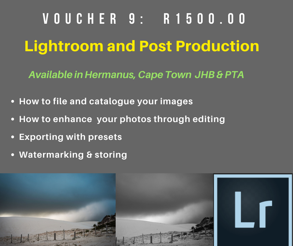VOUCHER 9 - LIGHTROOM AND POST PRODUCTION