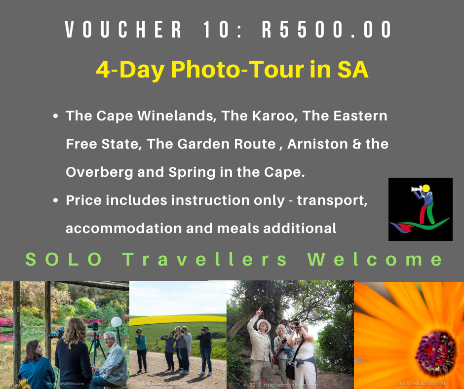 VOUCHER 10 - FOUR(4) DAY PHOTO-TOUR IN SA