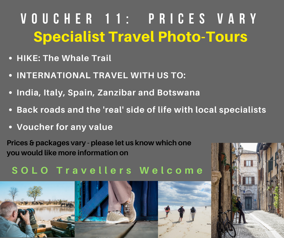 VOUCHER 11 - SPECIALIST TRAVEL PHOTO-TOURS