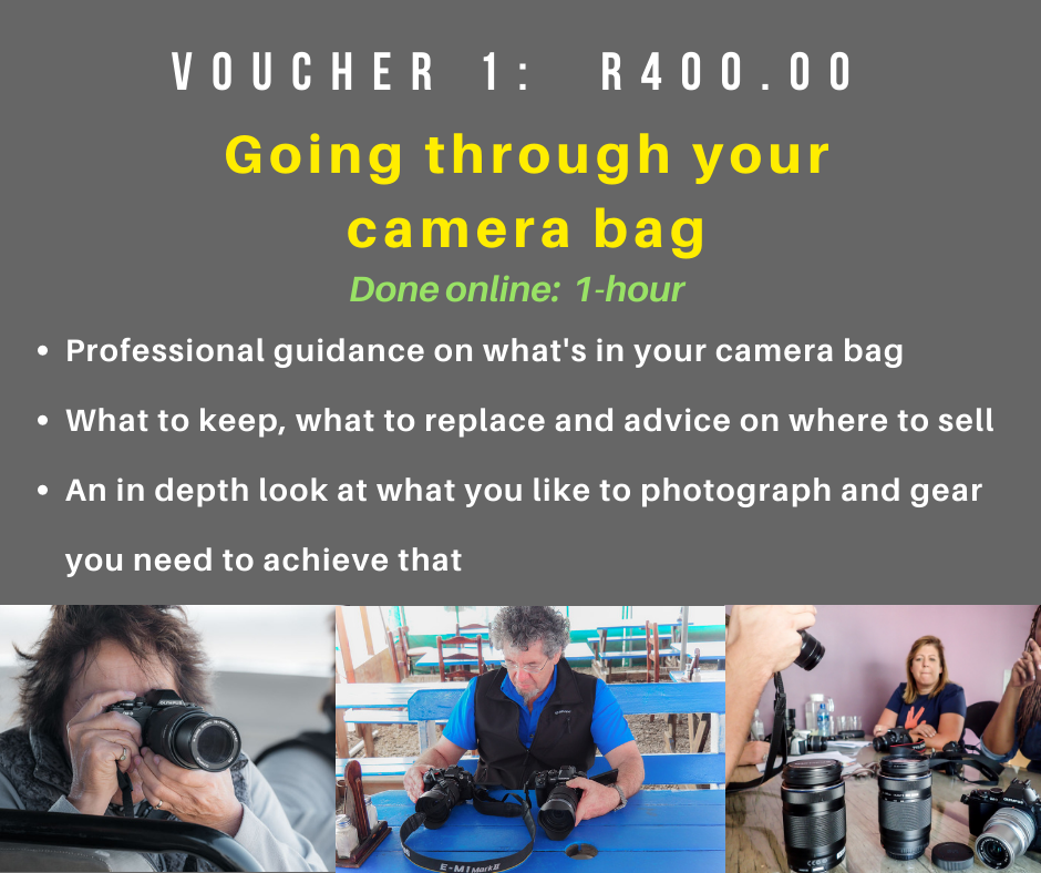 VOUCHER 1 - GOING THROUGH YOUR CAMERA BAG