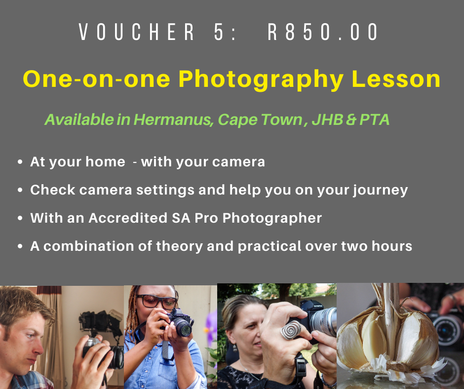 VOUCHER 5 - ONE-ON-ONE PHOTOGRAPHY LESSON