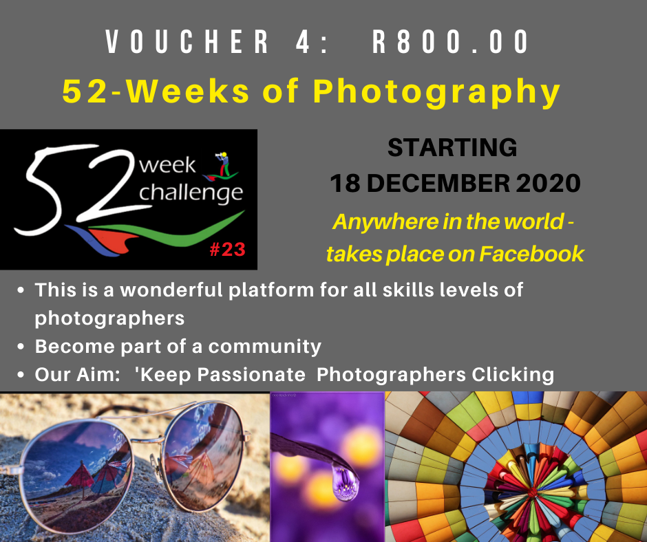 Vouchers 52 week photography challenge